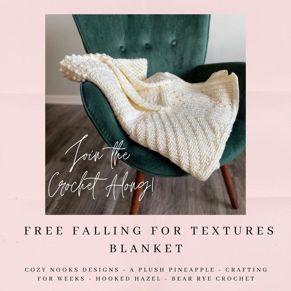 Free Blanket Crochet Along – Falling for Textures Blanket CAL