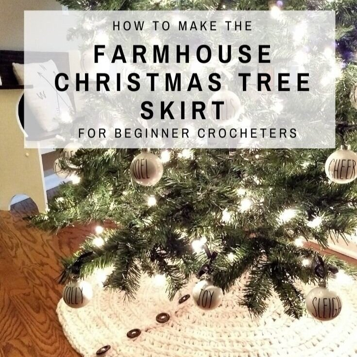 Farmhouse Christmas Tree Skirt Crochet Pattern
