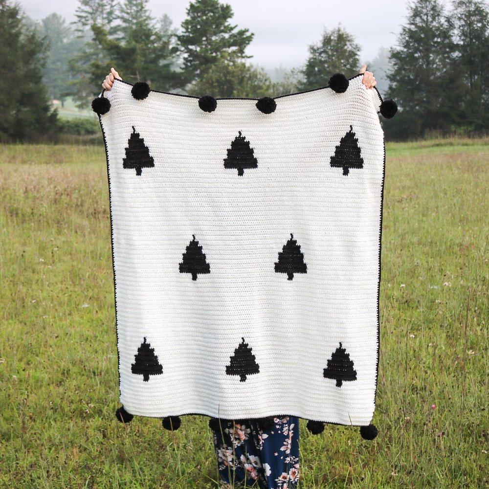 Modern Woodland Blanket