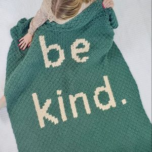 Free Crochet Blanket Pattern – Be Kind Blanket