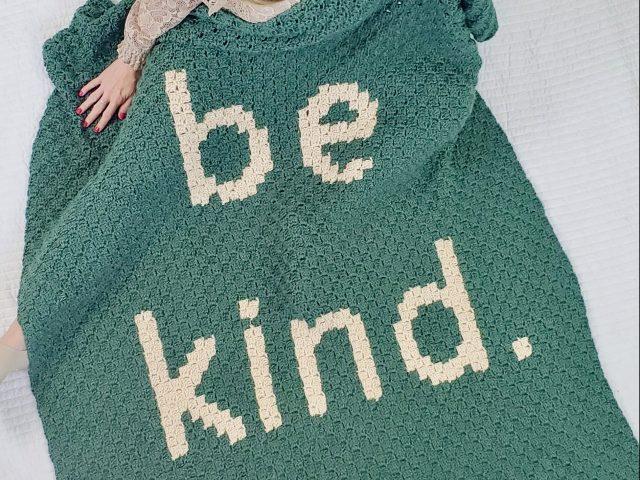 Free Crochet Blanket Pattern – Be Kind Blanket