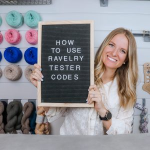 How to use Ravelry Tester Codes