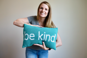 Free Crochet Pattern – Be Kind Pillow
