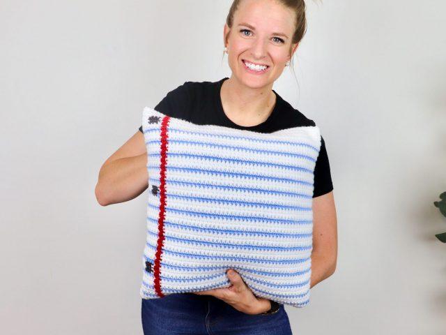 Free Teacher Gift – Paper Pillow Crochet Pattern
